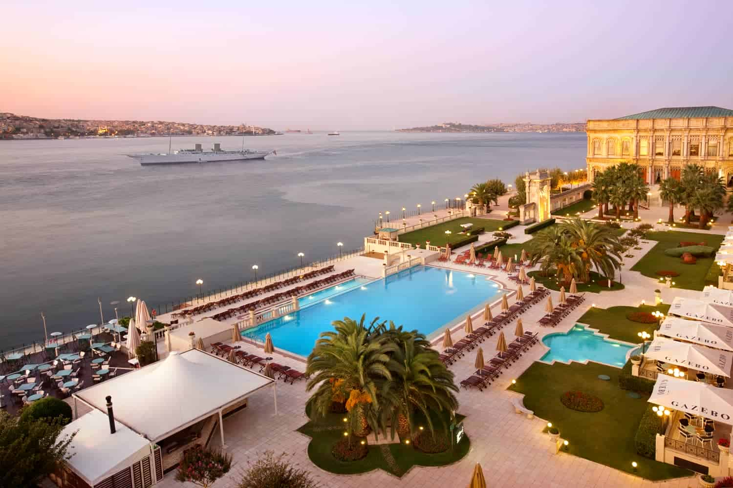 ciragan palace istanbul applies special rates for avione jet customers
